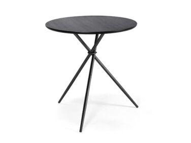 Alberta 75 cm átmérőjű fekete asztal fém lábbal