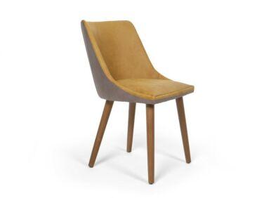Alberta szék mustár-szürke színben