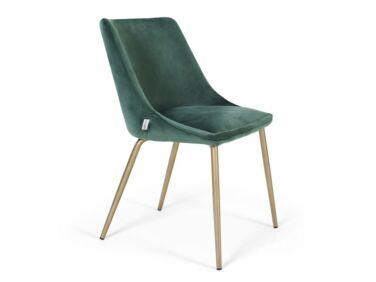 Alberta szék sötétzöld színben, fém lábbal