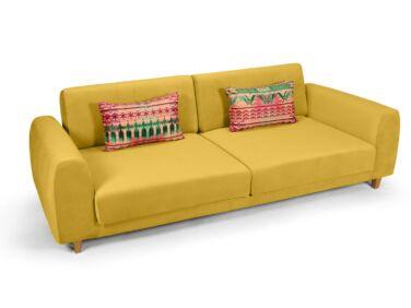 Amsterdam 2 személyes kanapé mustár színben