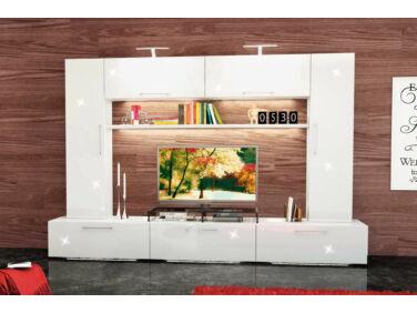 BOX nappali összeállítás L300 magasfényű fehér 8.