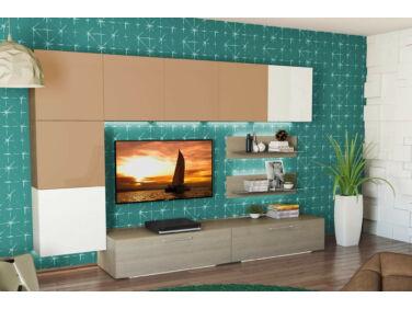 BOX nappali összeállítás L300 matt cappuccino/fehér 5.
