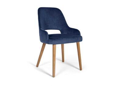 Clark sötétkék szék, natúr tölgy lábakkal