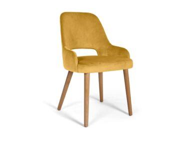 Clark sárga szék, natúr tölgy lábakkal