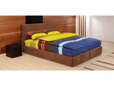 Cubo kárpitozott ágy barna 140x200