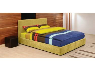 Cubo kárpitozott ágy sárga 140x200