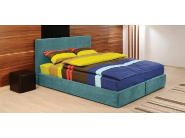 Cubo kárpitozott ágy zöld 160x200