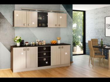 Domino 14 magasfényű konyhabútor összeállítás (200cm)