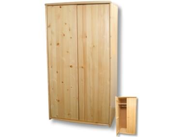2 ajtós, akasztós borovi fenyő szekrény LZ-43