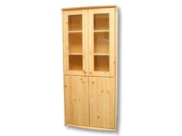 4 ajtós, vitrines fenyő szekrény LZ-47