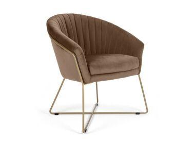 Felice barna szék fém lábbal