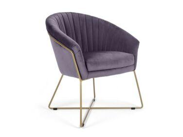 Felice lila szék fém lábbal