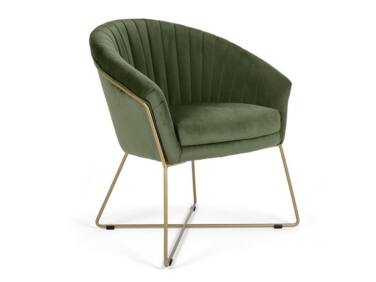 Felice sötétzöld szék fém lábbal