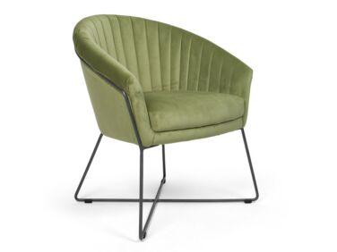 Felice zöld szék fém lábbal