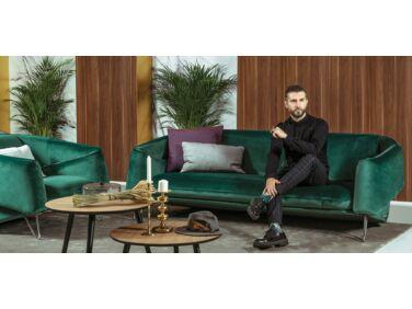 Flow kanapé zöld bársony