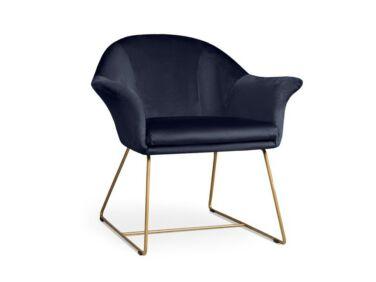 Form sötétkék fotel