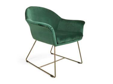 Form zöld fotel