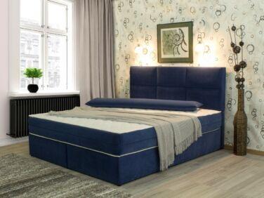 Xenia EcoBox franciaágy kék 160x200 fix vagy ágyneműtartós