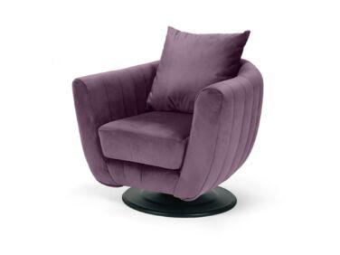 Havana fotel, steppelt, lila színben
