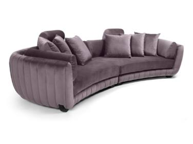MobilaDalin Havana ötszemélyes kanapé, steppelt. világos lila