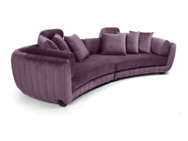 MobilaDalin Havana ötszemélyes kanapé, steppelt, lila