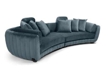 MobilaDalin Havana ötszemélyes kanapé, steppelt, sötétkék