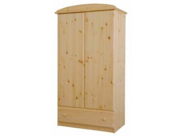 2 ajtós, 1 fiókos fenyő akasztós-polcos szekrény HR-025