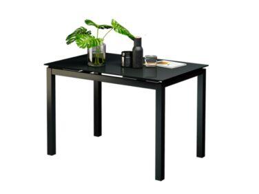 ARENA 8 személyes nyitható asztal fekete színű üveglappal