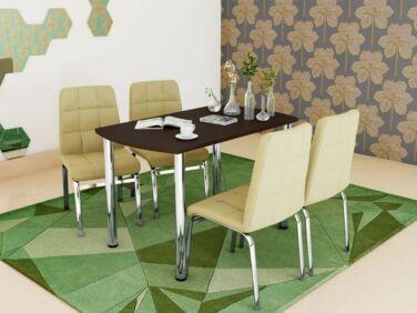 COLIBRI asztal + 4 bézs CARO szék összeállítás