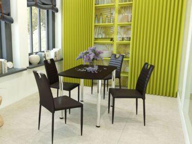 COLIBRI asztal + 4 fekete COLIBRI szék összeállítás