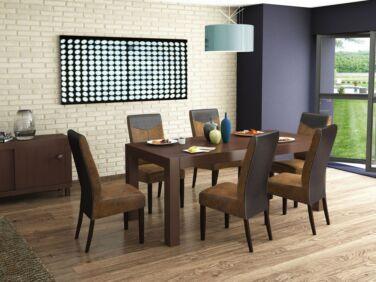 Legano asztal + 6 barna Legano szék összeállítás