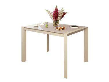 NEW YORK 10 személyes nyitható nagy asztal cappuccino színben