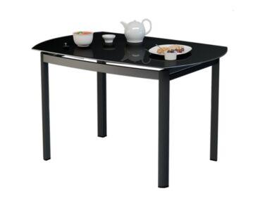 STAR 8 személyes nyitható asztal fekete színű üveglappal