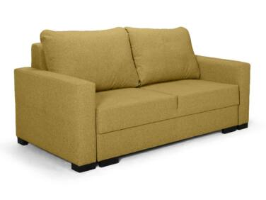 Luna kis ágyazható kanapé sárga