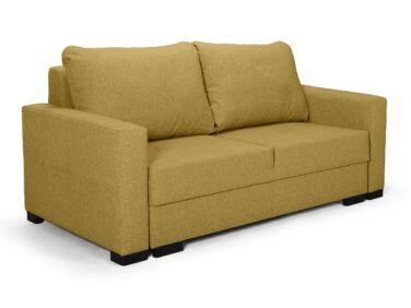 Luna kétszemélyes fix kanapé sárga