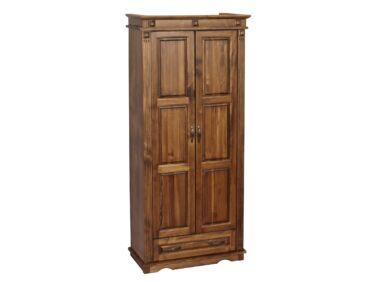 2 ajtós + 1 fiókos, válaszfalas fenyő szekrény MS-110