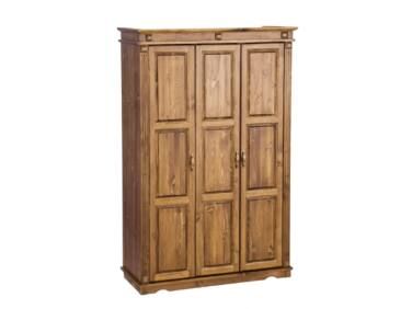 3 ajtós fenyő szekrény válaszfalas MS-111