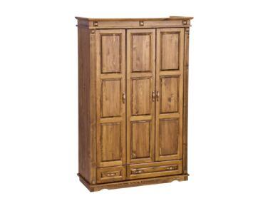 3 ajtós + 2 fiókos fenyő szekrény válaszfalas MS-112