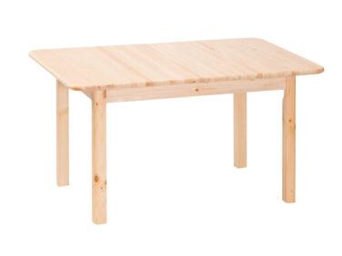 Téglalap alakú, fix fenyő asztal MS-147