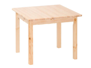 Négyzetes, fix fenyő asztal MS-148