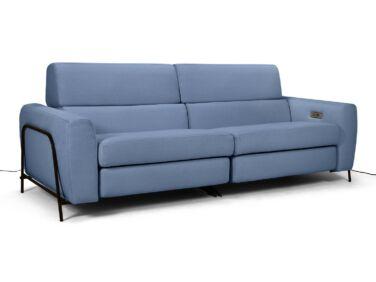 Mossa 2 személyes elektromos relax kanapé kék