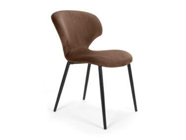 Nord szék barna, fekete fém lábbal