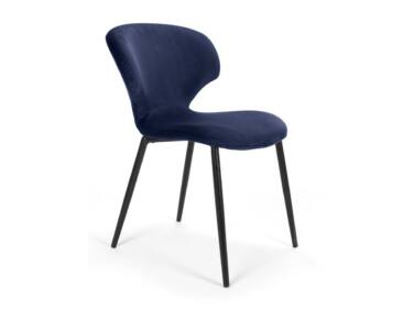 Nord sötétkék szék, fekete fém lábbal