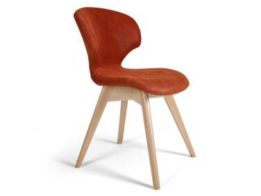 Nord szék terrakotta, natúr tölgy X lábbal