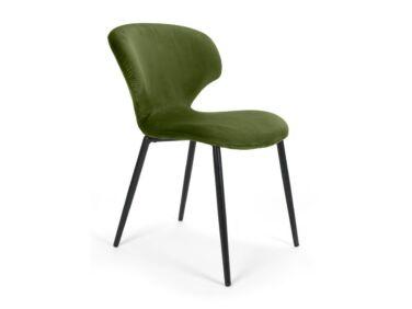 Nord szék világoszöld, fekete fém lábbal