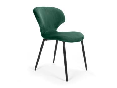 Nord szék zöld, fekete fém lábbal