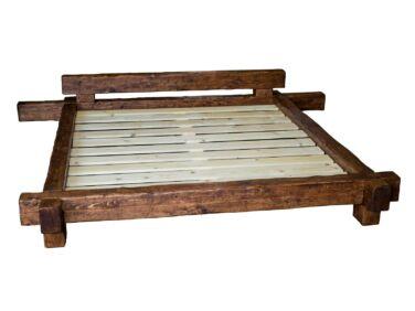 Antikolt fenyő gerenda ágy 180x200 PF-106