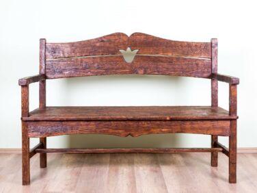 Antikolt fenyő kanapé PF-162