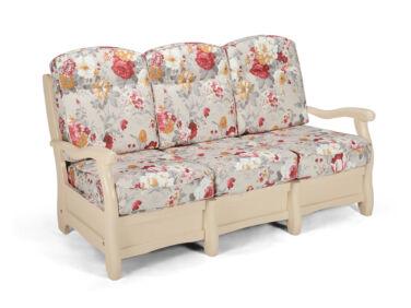 Róma milk virágos 3 személyes kanapé