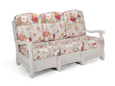 Róma szürke virágos 3 személyes kanapé